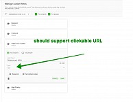 Textfiled in custom fields should support clickable URL